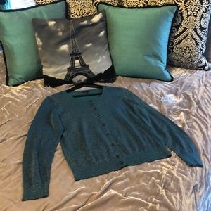 🎁3/$18🎁 NWOT Talbots Jeweled button up cardigan
